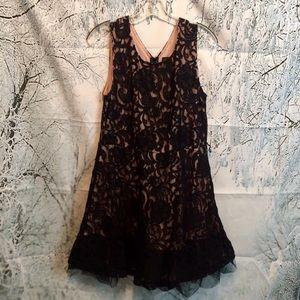 Rue21 plus size juniors 1x black n nude lace dress